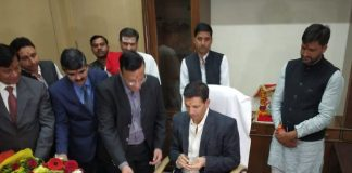 Today-took-charge-jitu-patwari-as-the-Minister-of-Higher-Education-and-Sports-and-Youth-Welfare-Madhya-Pradesh-