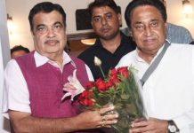 -cm-kamalnath-meet-with-nitin-gadkari-on-Bhopal-Indore-Six-Lane-Expressway
