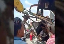 bus-collide-in-truck-in-indore-one-dead