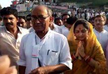digvijay-singhs-pad-yatra-in-bhopal-madhya-pradesh