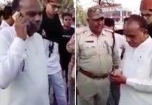 congress-mla-veer-singh-bhuriya-Threat-police-video-viral-