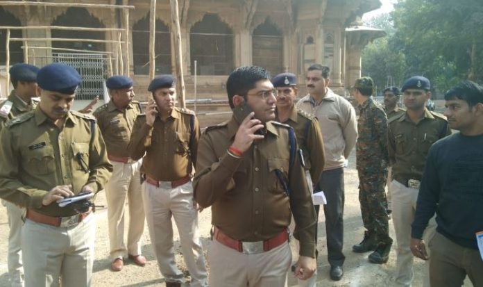 gwalior-sp-inspection-Security-of-counting-place--