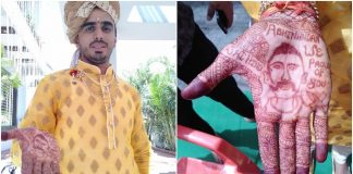 wing-commander-'Abhinandan'-in-the-groom's-hand-in-indore