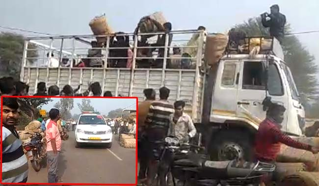 In-front-of-the-authorities-looted-truck-full-of-bardane