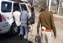 road-accident-in-dhar-Unknown-vehicle-hit--scooty-two-killed-