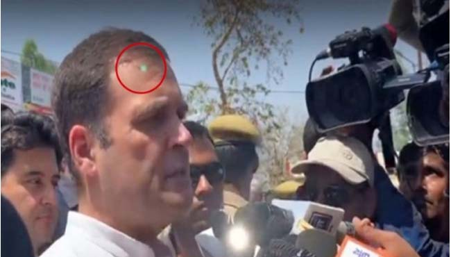 laser-possibly-from-sniper-gun-aimed-at-rahul-gandhi-congress-wrote-to-home-minister