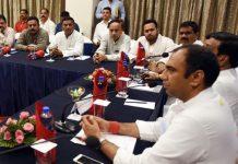 power-minister-priyavrat-singh-take-meeting-with-electricity-engineer
