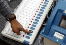 bjp-and-congress-supporter-post-evm-picture-of-voting-on-social-media