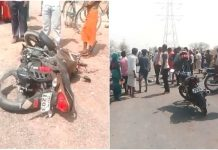 -a-road-accident-over-speeding-tempo-hits-bike-four-died-in-satna