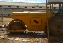 Look-at-here-Bulldozer-destroyed-almost-four-million-branded-alchohol