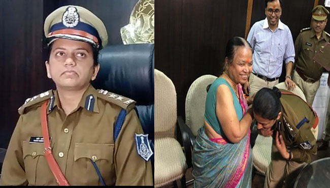 after-touch-of-feet-of-mother-in-law--SSP-ruchi-vardhan-mishra-charge-responsibility-in-indore