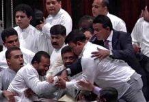 asian-countries-heavy-ruckus-in-parliament-of-sri-lanka