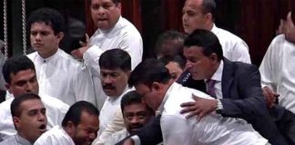 asian-countries-heavy-ruckus-in-parliament-of-sri-lanka