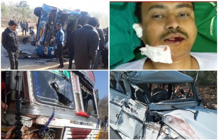 Police-Intelligence-car-coming-back-from-the-collision-of-container-bus-damaged