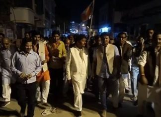 BJP-united-in-bhind-to-get-votes-for-chaudhary-BJP-leaders-on-the-streets