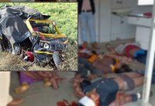Painful-Incident-in-ashoknagar-Dumpar-collides-with-auto-6-people-die