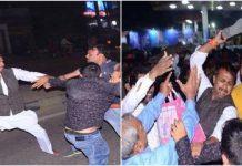 congress-workers-thrashes-hindu-yuva-vahini-worker