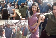 Bollywood-actors-rajkumar-rao-and-fatima-became-'Bin-Bailay-Baratati'-on-the-streets-of-Bhopal-