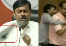 -Shoe-thrown-at-BJP-leader-during-press-conference-in-delhi-