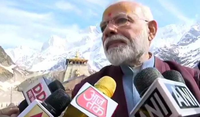 narendra-modi-comes-out-from-rudra-cave-in-kedarnath
