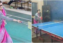 Priyadarshani-Raje-played-Badminton-and-Table-Tennis-in-Shivpuri