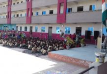 Patriotism-in-childrens--school-children-took-the-pledge-to-go-to-the-army