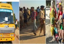 school-bus-hits-a-boy-died-after-parents-staged-protest-in-satna