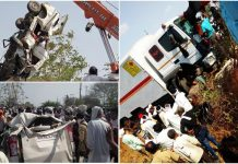 A-road-accident-in-buldhana-truck-collided-with-passanger-vehicle
