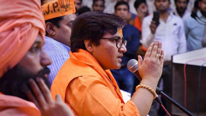 sadhvi-pragya-comment-on-ayodhya-demolition-not-taking-serious-election-commission-notice
