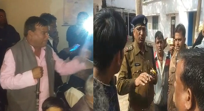 police-attacked-on-Congress-leader's-house-in-shivpuri-