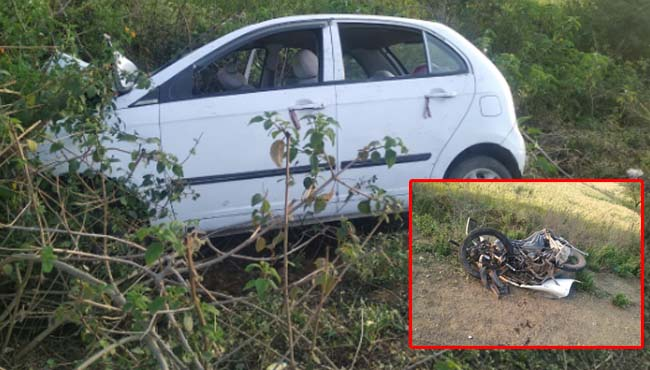 -Accident-on-Holi--3-killed--including-a-7-year-old-girl-crashed-bike-riders-by-speeding-car-in-jabalpur