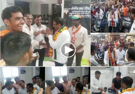 congress-candidate-sachin-birla-campaigning-in-bjp-office-