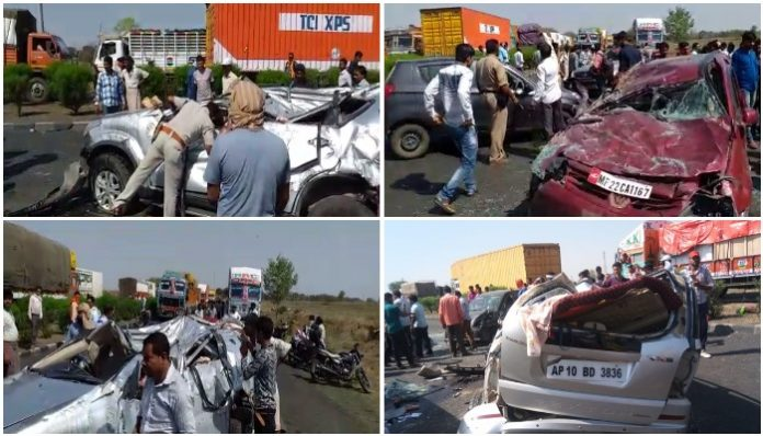 seoni-three-car-accident-national-highway-two-women-died--in-seoni