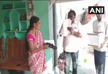akula-hanumanth-hands-out-slippers-to-voters-asking-them-to-hit-him-if-he-fails-to-deliver-on-promises