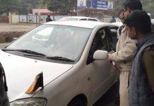 gwalior-traffic-police-fined-on-bjp-MP-Prahlad-Patel's-car-