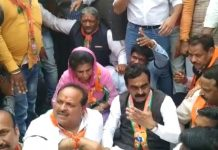bjp-leader-and-worker-arrest-in-dewas-while-protest