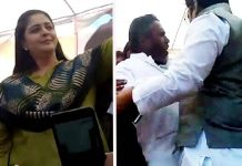 beatings-between-congress-workers-infront-nagma-mp-elections-in-shivpuri