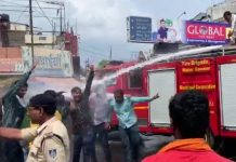 ABVP-workers-and-police-clashes-in-jabalpur