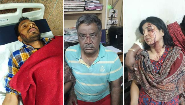 BJP-leader-entered-the-house-and-attack-on-a-national-shooter
