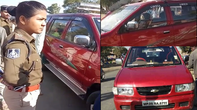 Caught-millions-of-rupees-by-car--BJP-leader-was-also-in-a-car-in-indore-