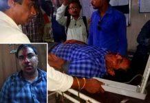 Nagar-Panchayat-CMO-beaten-by-poles-in-MP-bjp-leader-also-injured-in-satna-