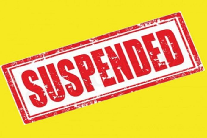 Narmada-Minster-suspended-two-officers-