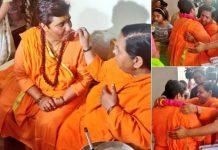 bjp-candidate-Sadhvi-Pragya-Thakur-meets-Uma-Bharti-in-bhopal