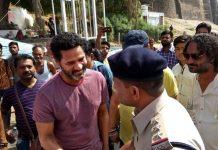 Prabhudeva-arrives-MP-for-Dabang-3-Meeting-with-the-Police-Officer