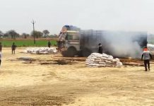 news-truck-burn-after-touch-heavy-electric-line-in-jabalpur