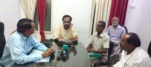 दो दिन से चल रहे धरने पर भाजपा नेता ने लगया पूर्ण विराम, CMO को दिए दिशा-निर्देश
