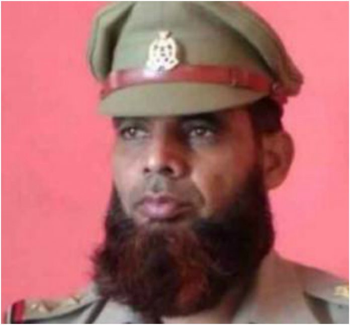 cop Intesar Ali suspended for keep beared in up