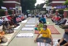 school fee protest by parents in indore