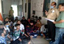 ABVP protest in tikamgarh