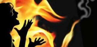 rape victim burnt herself in rewa